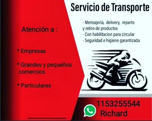 mensajería/ envío de mercadería