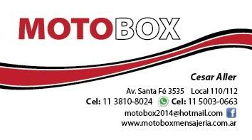 mensajeria y minifletes motobox envios cap gba
