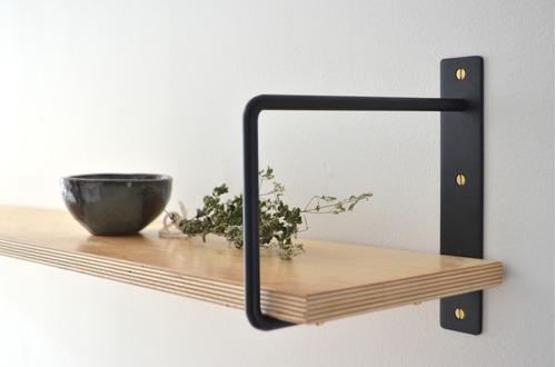 mensula de hierro u para estante de 25 cm