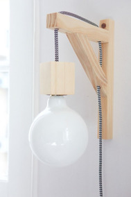 Lámpara Estilo Madera Para O De Mensula Nórdico Estante N0nwvm8