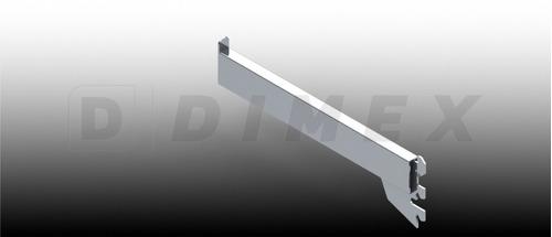 ménsula de tubo cromada 25cm (6piezas)
