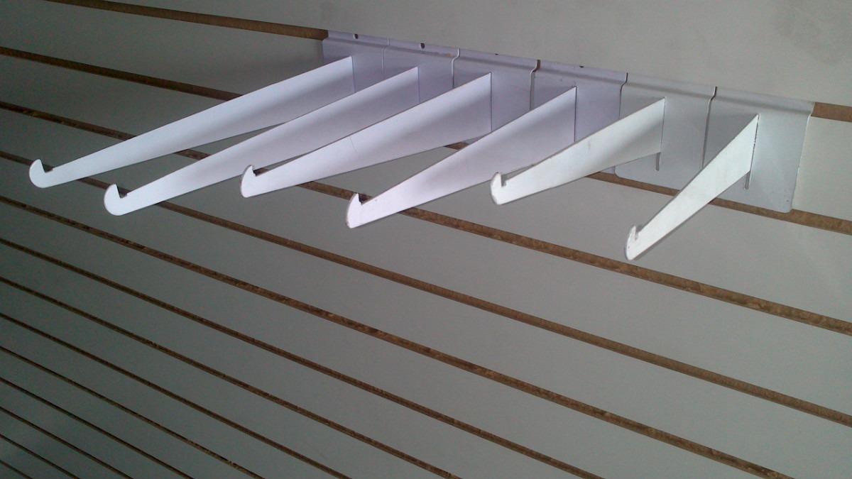 Mensula para panel ranurado en mercado libre for Ganchos para repisas
