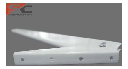 mensula rebatible reforzada por unidad 47 cm blanca me