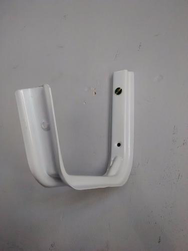 mensula soporte bicicleta escalera manguera kit x 2 soporte