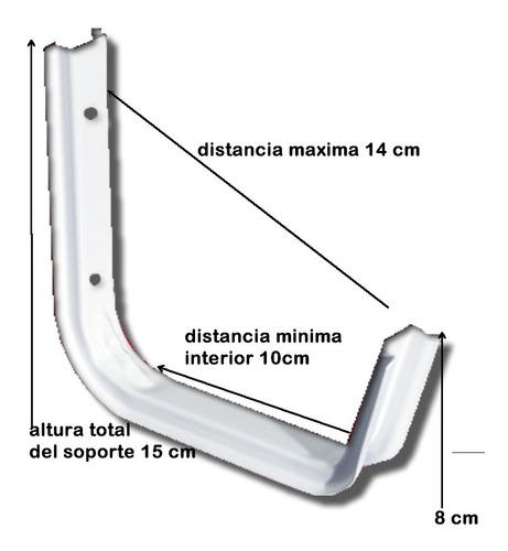 mensula soporte bicicleta escalera manguera x unidad  0219