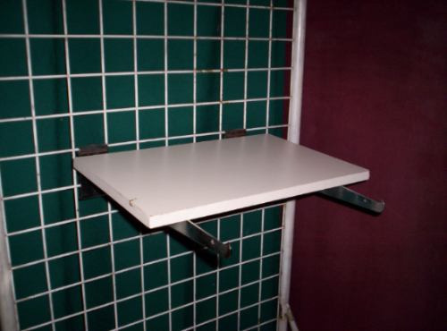 Mensulas cromadas lote 2 para estantes exibidores rejilla 330 00 en mercado libre - Mensulas para estantes ...
