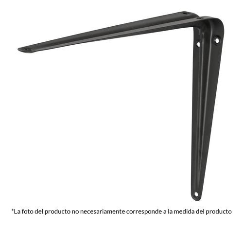 ménsulas de acero, 12 x 14 , negras 44455