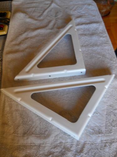 ménsulas de chapa 20 x 30 cm juego x 2 unidades blanco