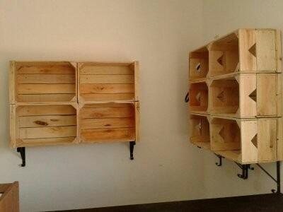 Mensulas p cajones de madera muebles a medida pallet - Muebles de madera a medida ...