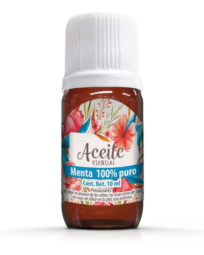 menta 10 ml aceite esencial 100% puro 100% natural