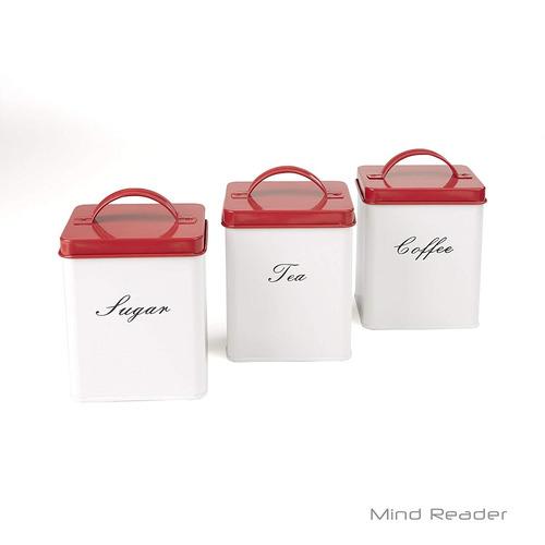mente lector 3- pieza metal bote set para cocina , café , a