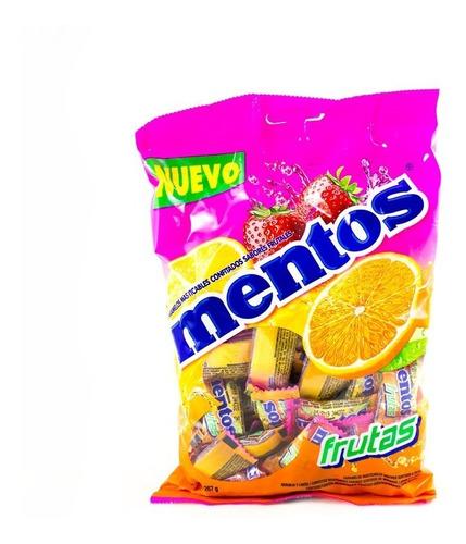 mentos bolsa frutas 100 und  267g