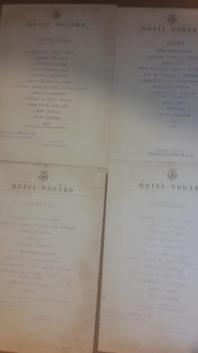 menú 4 hotel nogaro 1953
