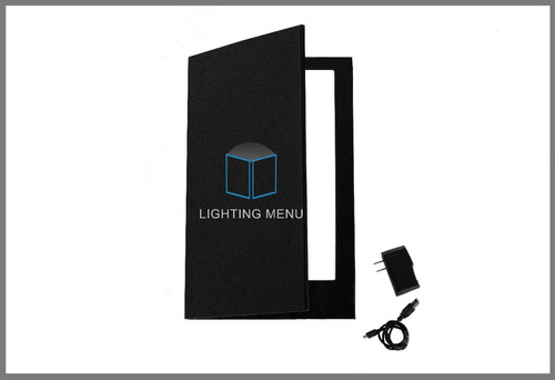 menu iluminado, menu led, menu con luz, porta menus