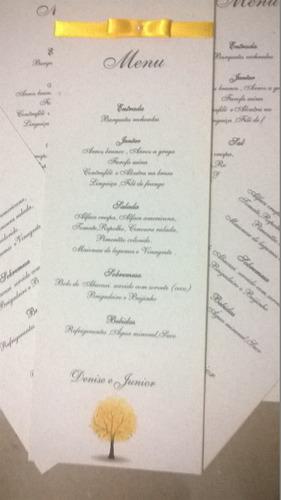 menu para casamento 10un.