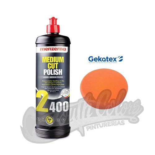 menzerna 2400 medium cut polish + pad 5' gekatex narj southc
