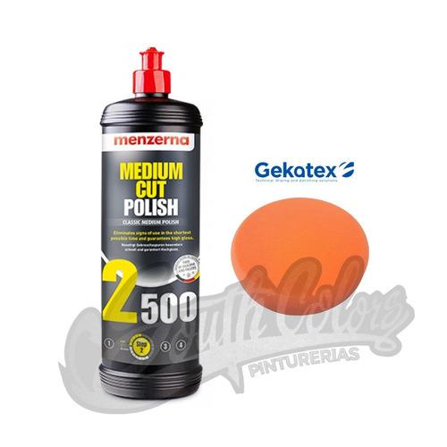 menzerna 2500 medium cut polish + pad 5' gekatex narj southc