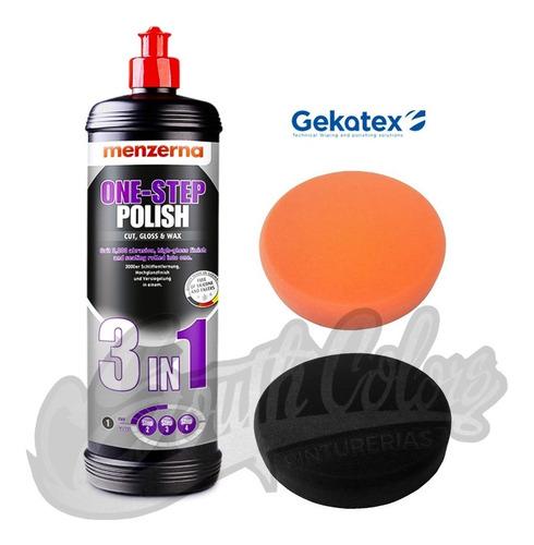 menzerna 3 en 1 one step polish + 2 pad 5' gekatex 6 cuotas
