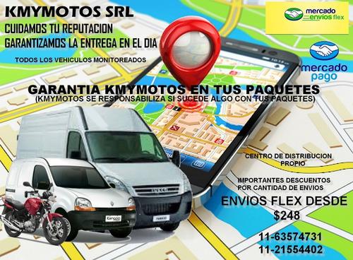mercado envio flex , centro de distribución, moto mensajería