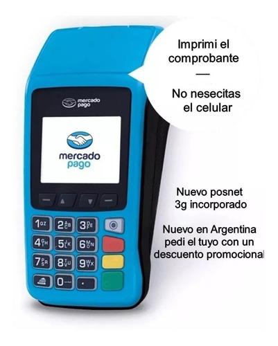 mercado pago point plus c/chip celular + impresora posnet