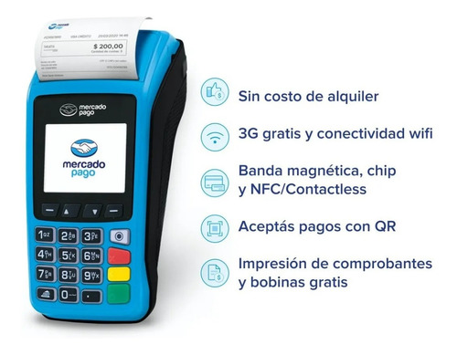mercado pago point plus - lector de tarjetas - no posnet
