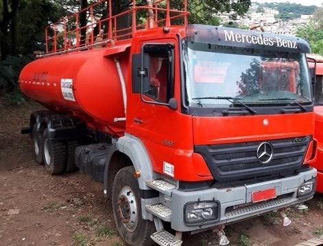 mercedes 2831 6x4 ano 2010/2010 pipa gascom