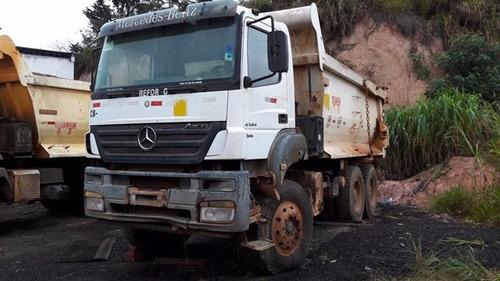mercedes 4144k 6x4 ano 2011/2012 caçamba meia cana rossetti