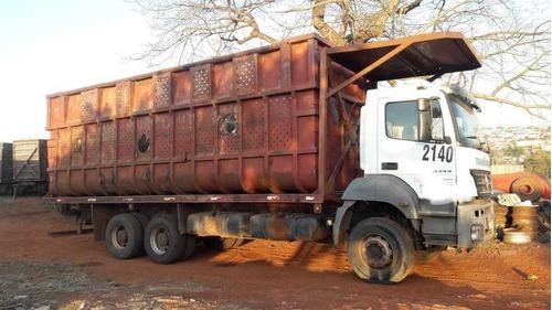 mercedes axor 3344 2011 plataforma de fabrica r$ 185.000.