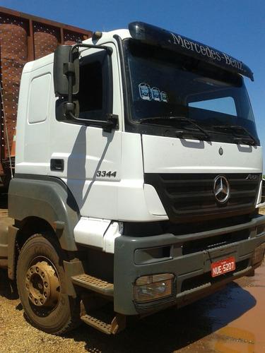 mercedes axor mb 3344 6x4 canavieiro cabinado r$125.000.