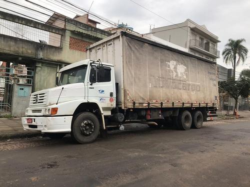 mercedes bens 1218 truck trucado sider baú 8 metros.