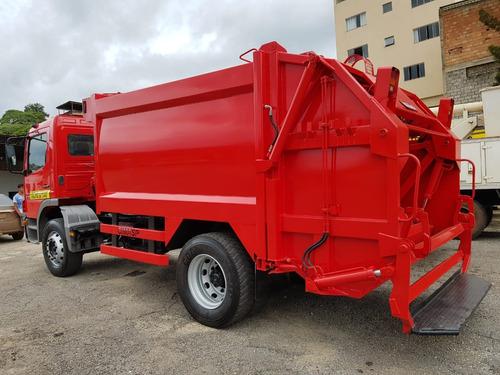 mercedes-bens 1518 4x2 ano 2008/2008 compactador de lixo