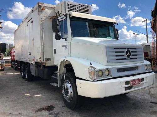 mercedes-benz 1218 truck com bau refrigerado