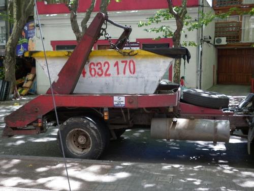 mercedes benz 1414 con grua para volquetas