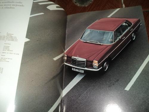 mercedes-benz  200d/220d230/250ce/280s/300sel/280sl  folheto