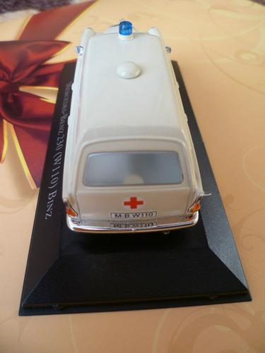 mercedes benz 230 w110 ambulância ixo não é minichamps