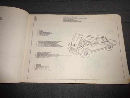 mercedes benz 250 sl 1967 catalogo a  despiece