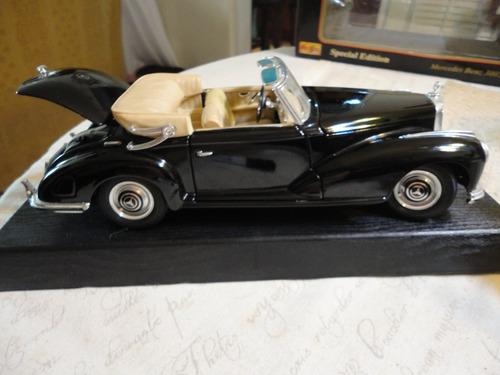 mercedes benz 300s 1955 negro maisto 1/18.nuevo en caja.