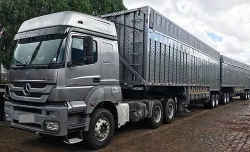 mercedes benz 3344 axor - rodotrem canaviera - 2019