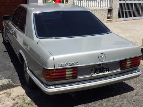 mercedes benz 350 sec 1983 coupe sin parantes.