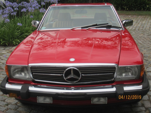 mercedes benz 560 sl roadster red - macome classic.