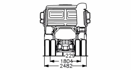 mercedes benz - actros 2641/33 ls tractor dob. (dormitorio)