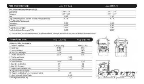 mercedes benz arocs 4136 b/42 8x4 cabina m anticipo $101,550