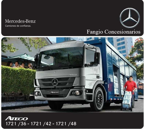 mercedes benz atego  1721/36 1721/48 cs anticipo $ 35,994.85