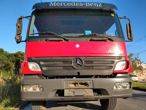 mercedes-benz atego 2425 2011/2012 vermelho