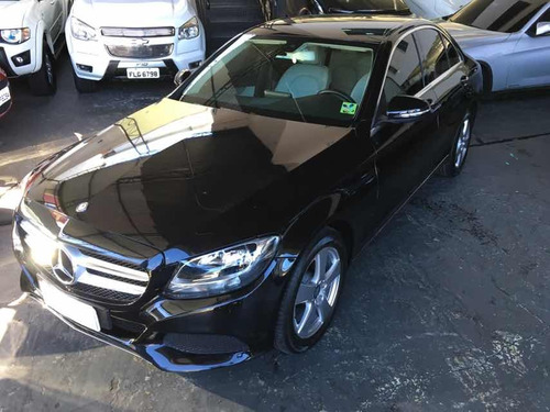 mercedes benz c 180 avantgarde turbo 2016 preto com bege
