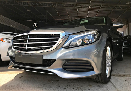 mercedes benz c 180 turbo exclusive 1.6. cinza 2017/18