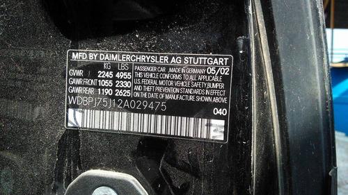 mercedes benz cl500 2002 automatico v8 5.0 solo para partes