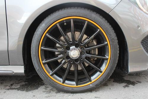 mercedes benz cla200 shooting brake orange art edition