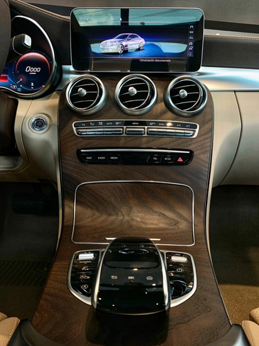 mercedes benz clase c 200 exclusive at azul interior beige