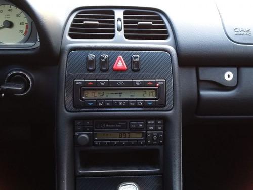 mercedes-benz classe clk sport 3.2 v6 1998 preta gasolina